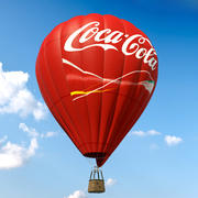 Air Balloon Coca Cola 3d model