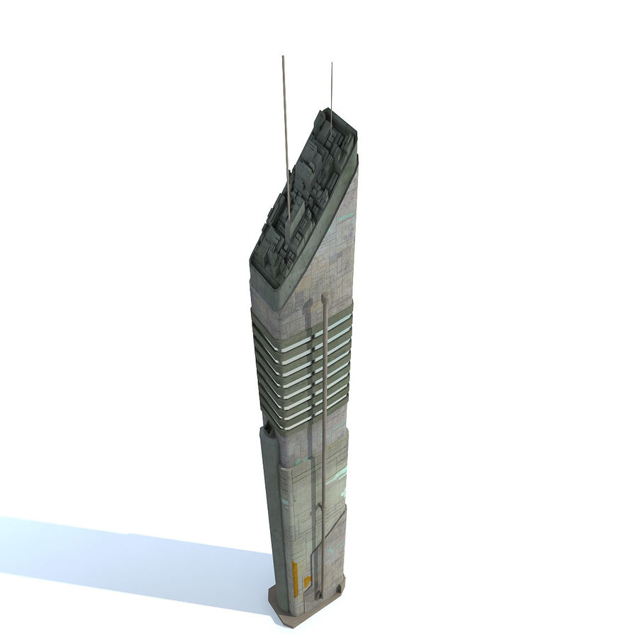 Sci fi City Set 4 futuriste royalty-free 3d model - Preview no. 12
