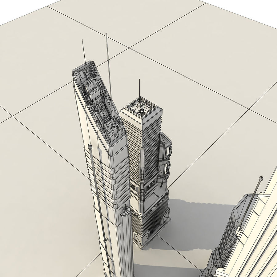 Sci fi City Set 4 Futuristic royalty-free 3d model - Preview no. 17