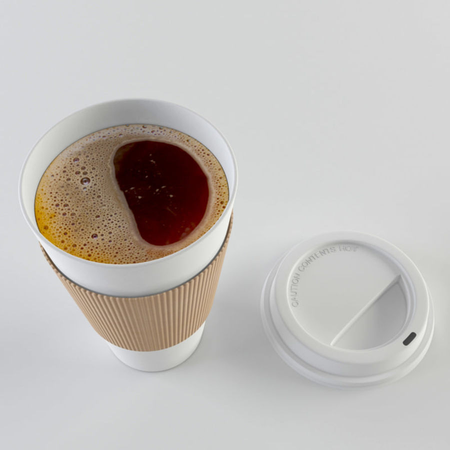 Paper Coffee Cup royalty-free 3d model - Preview no. 5