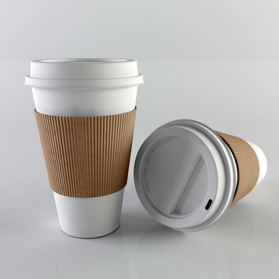 Paper Coffee Cup royalty-free 3d model - Preview no. 2