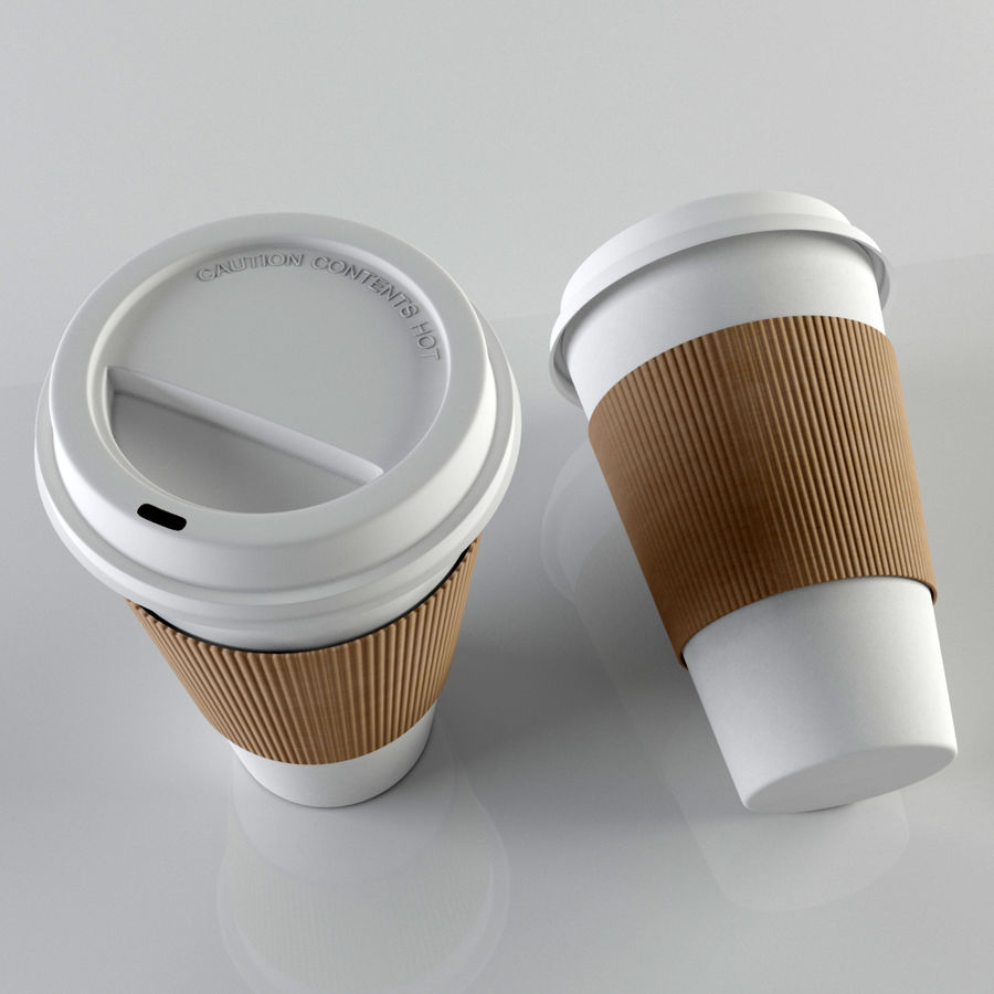 Paper Coffee Cup royalty-free 3d model - Preview no. 4