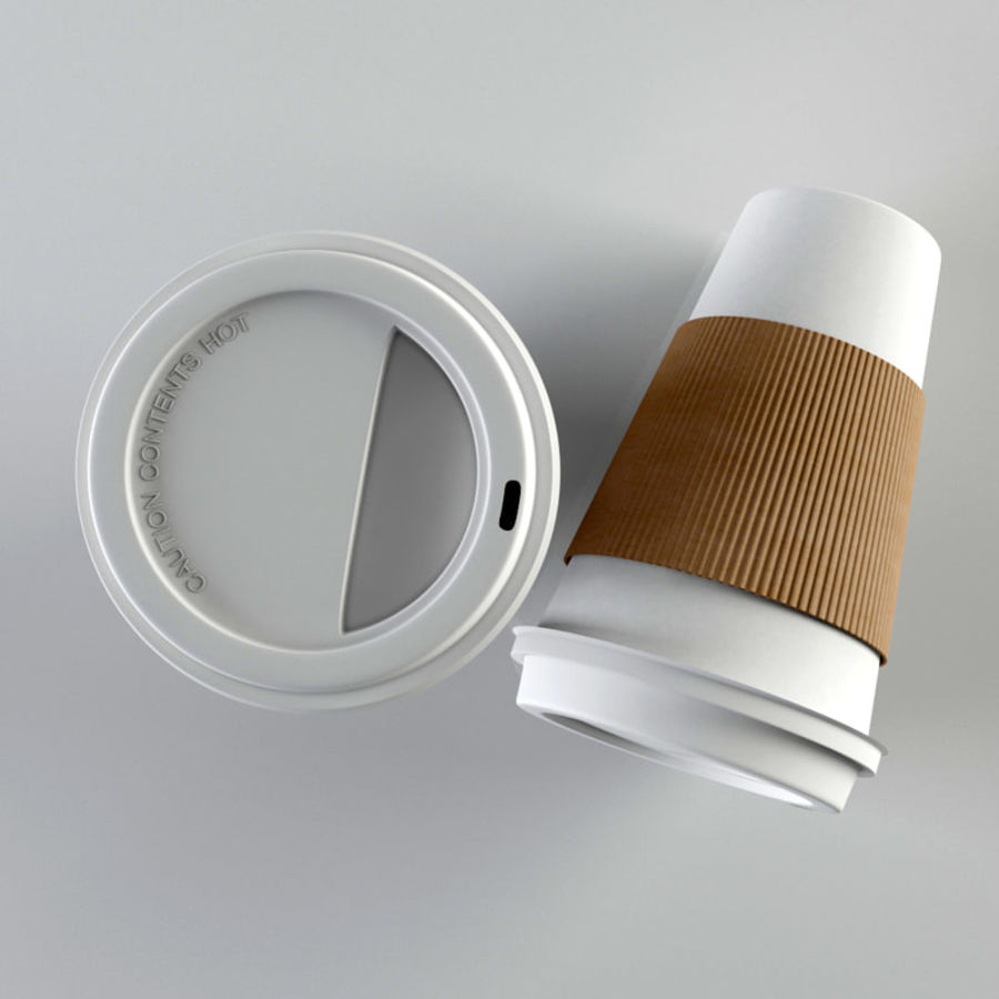 Paper Coffee Cup royalty-free 3d model - Preview no. 3