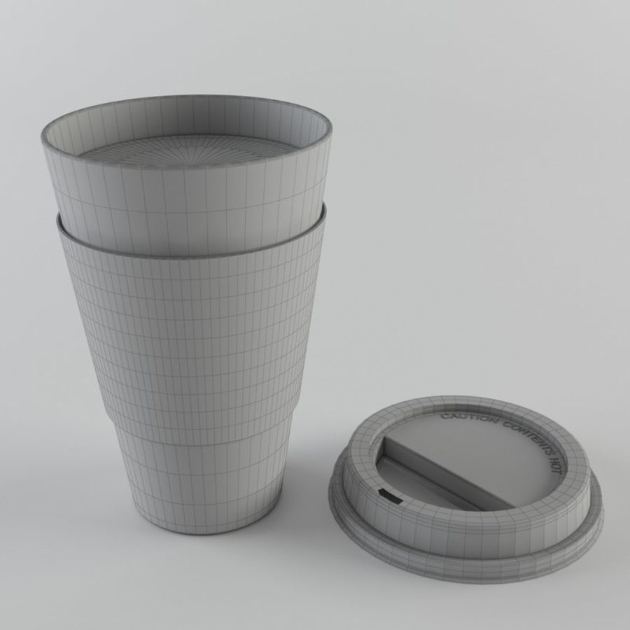 Paper Coffee Cup royalty-free 3d model - Preview no. 7