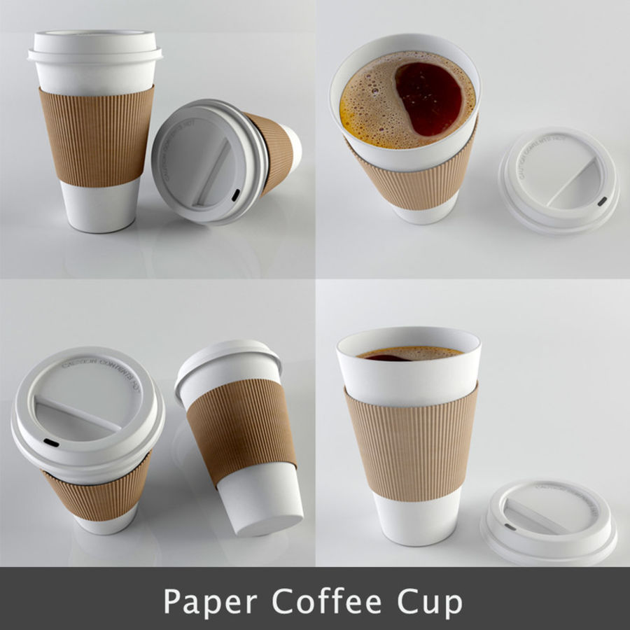 Paper Coffee Cup royalty-free 3d model - Preview no. 1