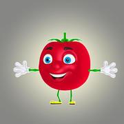 cartoon tomato 3d model