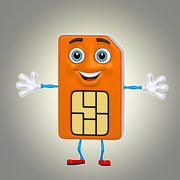 cartoon sim card 3d model