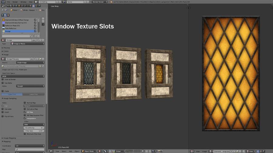 Medieval Timber Frame Building Construction Set 3D Model $49