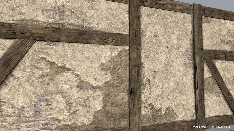 Medieval Timber Frame Building Construction Set 3D Model $49 ...