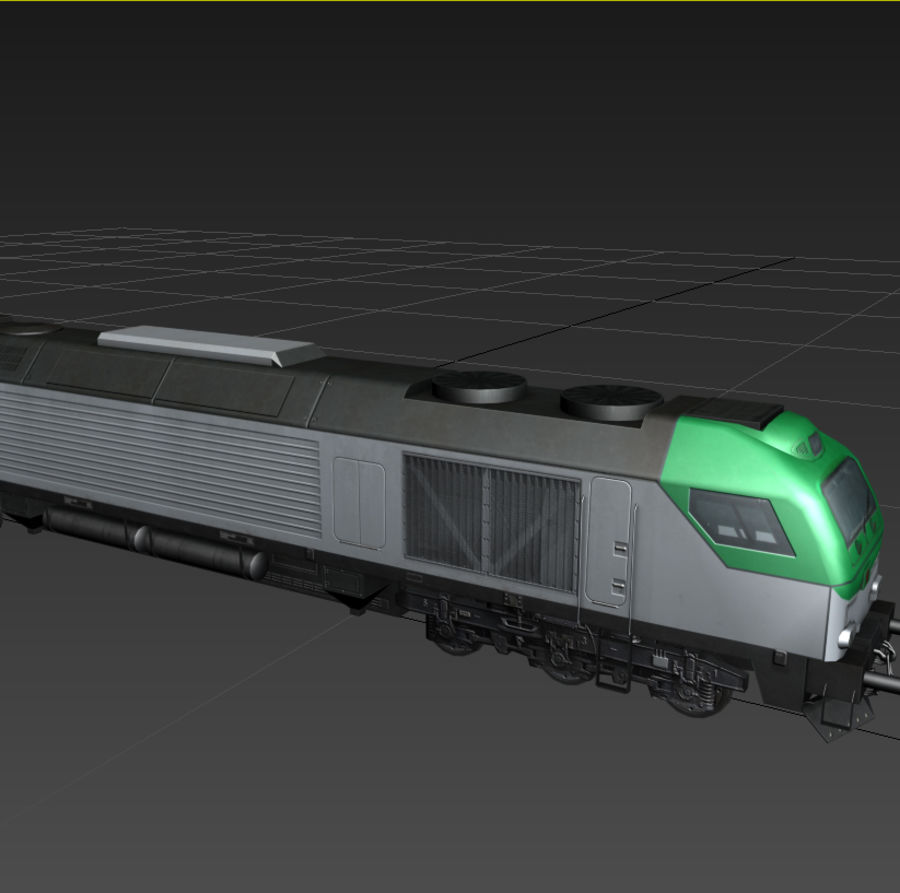 Locomotive royalty-free 3d model - Preview no. 8