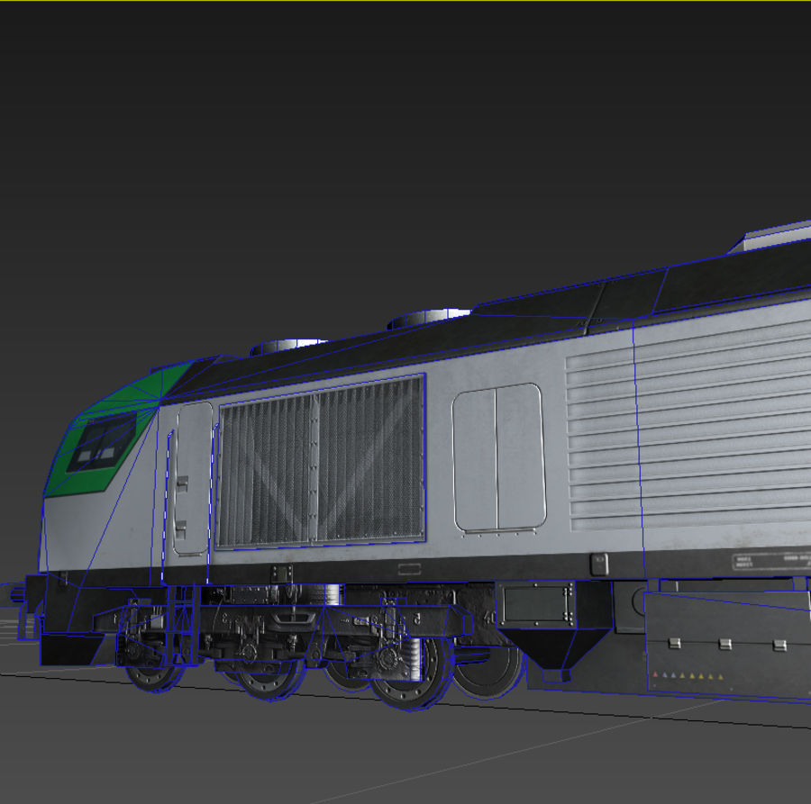 Locomotive royalty-free 3d model - Preview no. 5