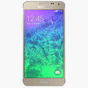 Samsung Galaxy Alpha Frosted Gold modelo 3d
