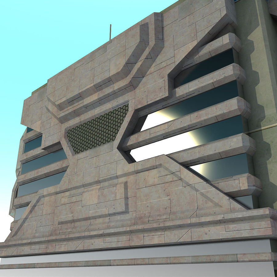 Sci Fi Building I Futuristic Modern royalty-free 3d model - Preview no. 7