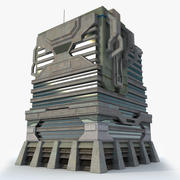 공상 과학 Fi를 빌딩 I 미래의 현대 3d model