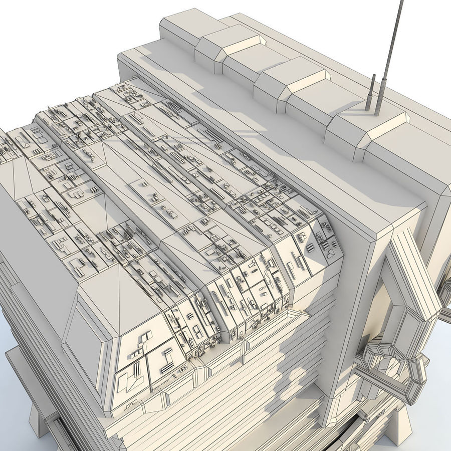 Sci Fi Building I Futuristic Modern royalty-free 3d model - Preview no. 9