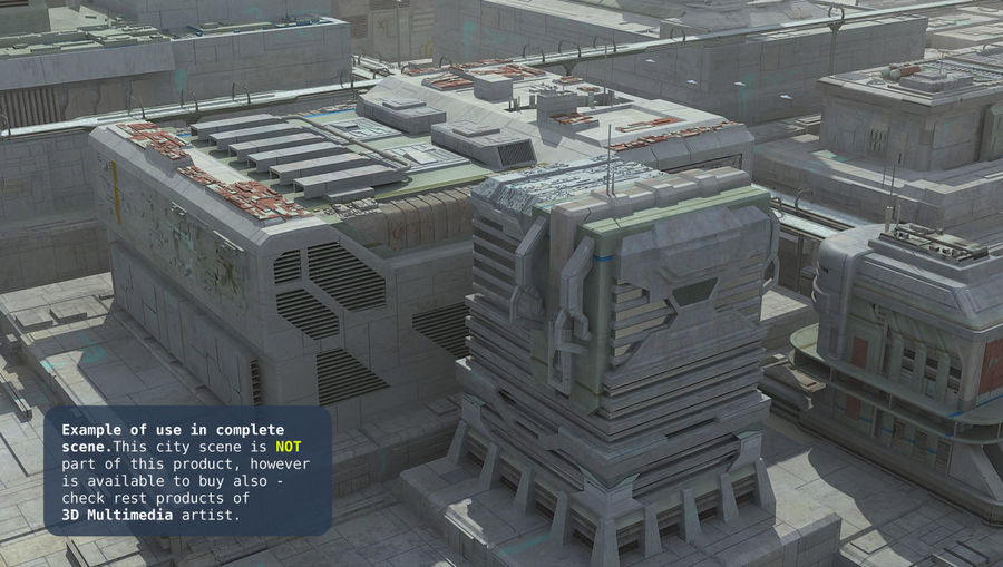 Sci Fi Building I Futuristic Modern royalty-free 3d model - Preview no. 12