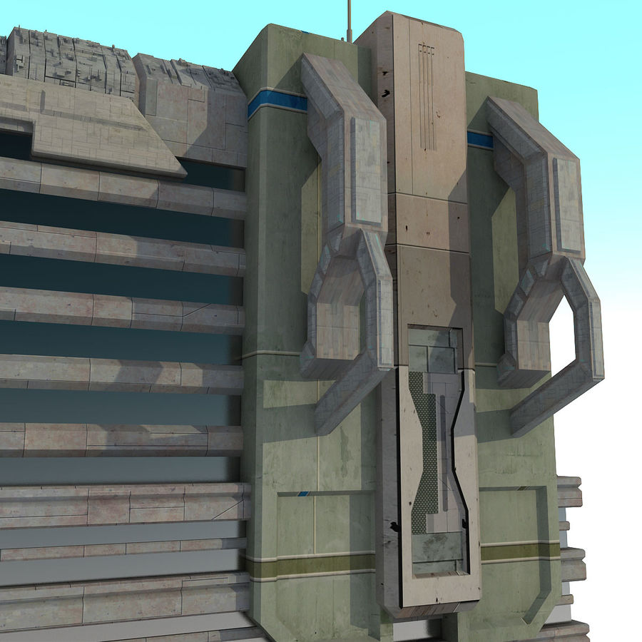 Sci Fi Building I Futuristic Modern royalty-free 3d model - Preview no. 6