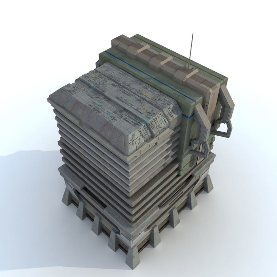 Sci Fi Building I Futuristic Modern royalty-free 3d model - Preview no. 3