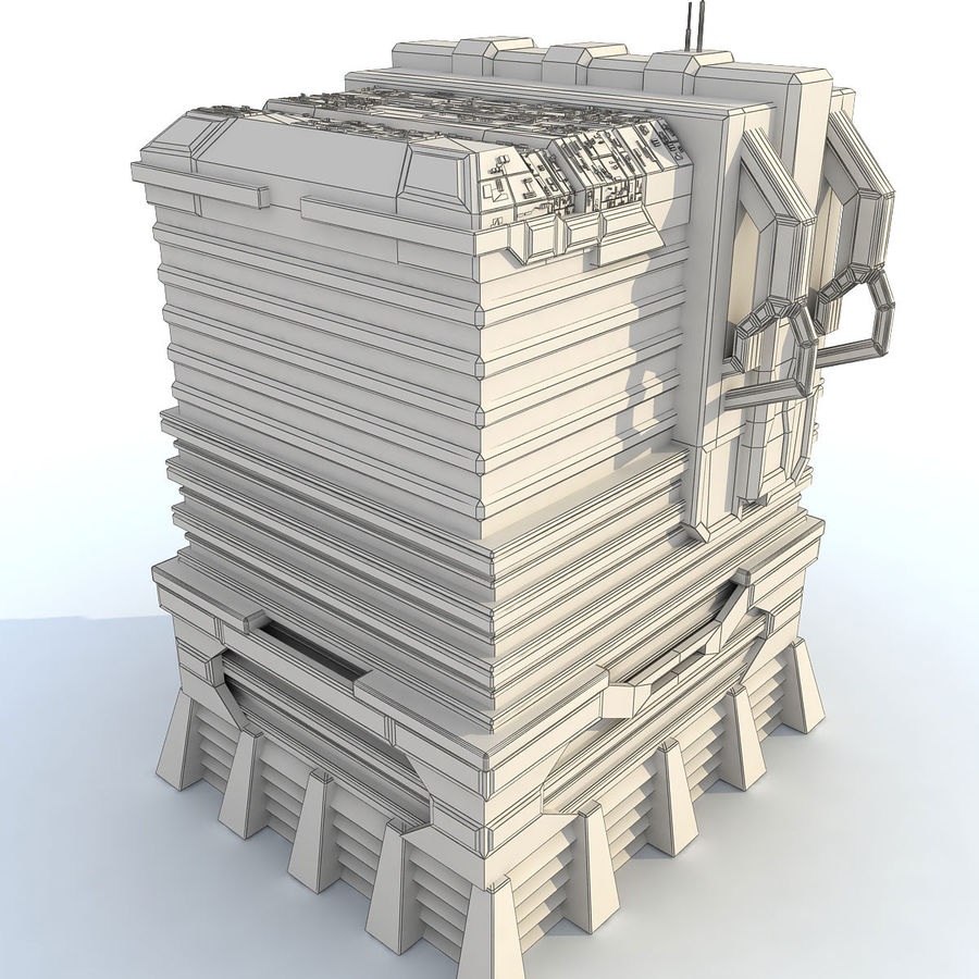 Sci Fi Building I Futuristic Modern royalty-free 3d model - Preview no. 10