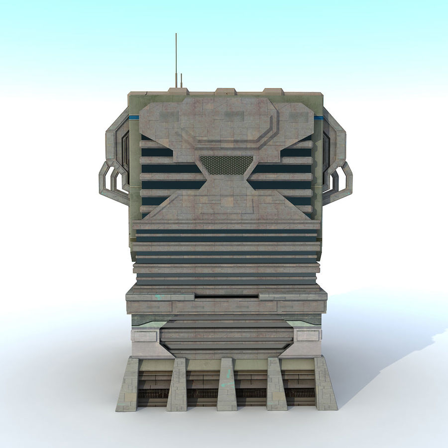 Sci Fi Building I Futuristic Modern royalty-free 3d model - Preview no. 5