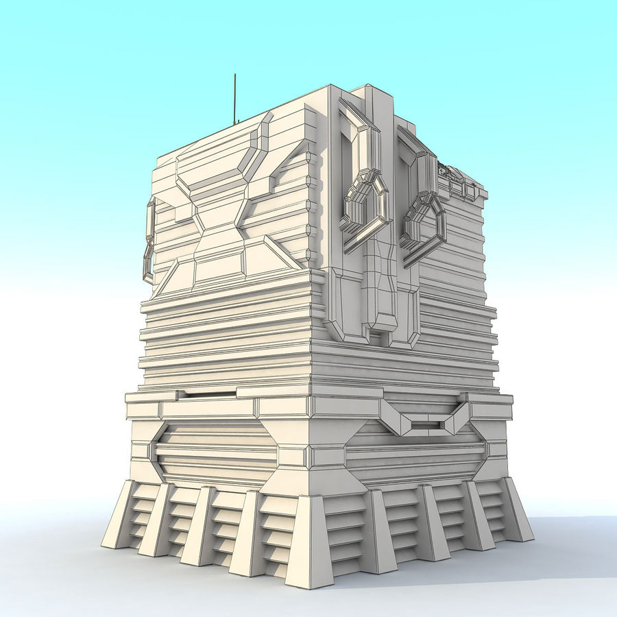 Sci Fi Building I Futuristic Modern royalty-free 3d model - Preview no. 8