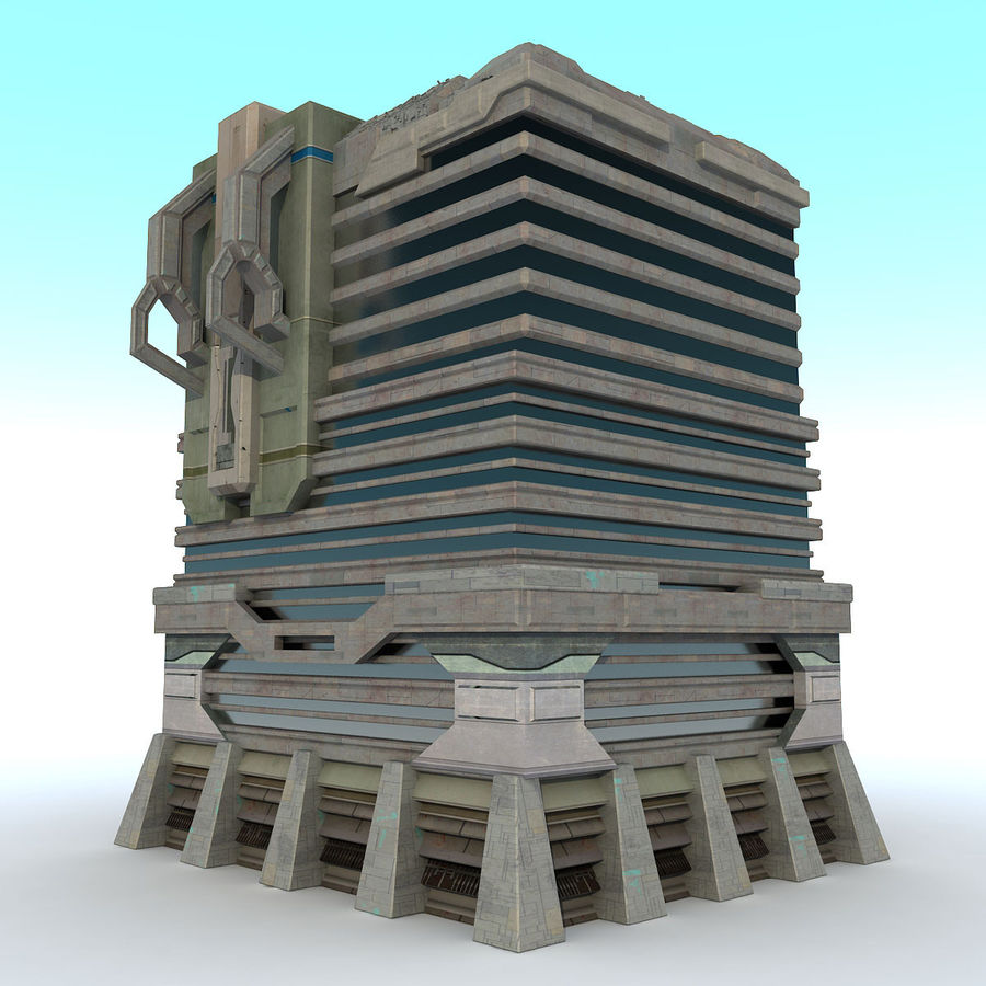 Sci Fi Building I Futuristic Modern royalty-free 3d model - Preview no. 2