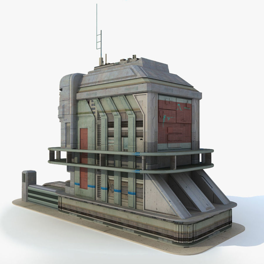 Sci Fi Building B Futuristic royalty-free 3d model - Preview no. 1