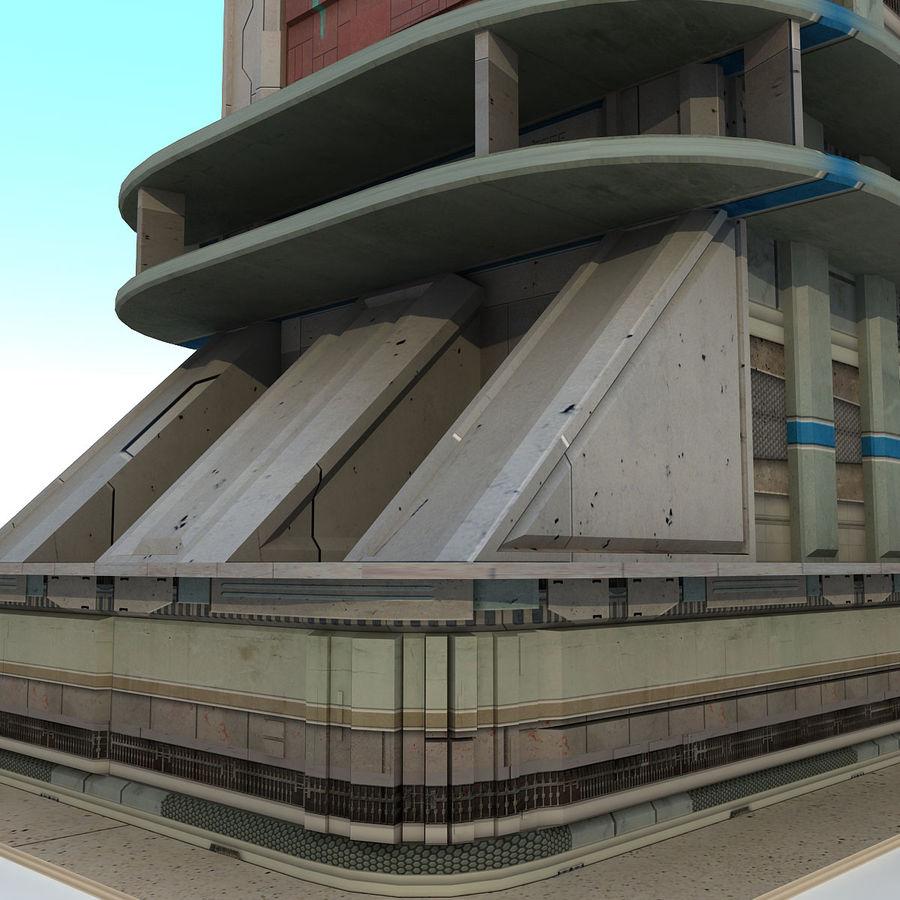 Sci Fi Building B Futuristic royalty-free 3d model - Preview no. 6