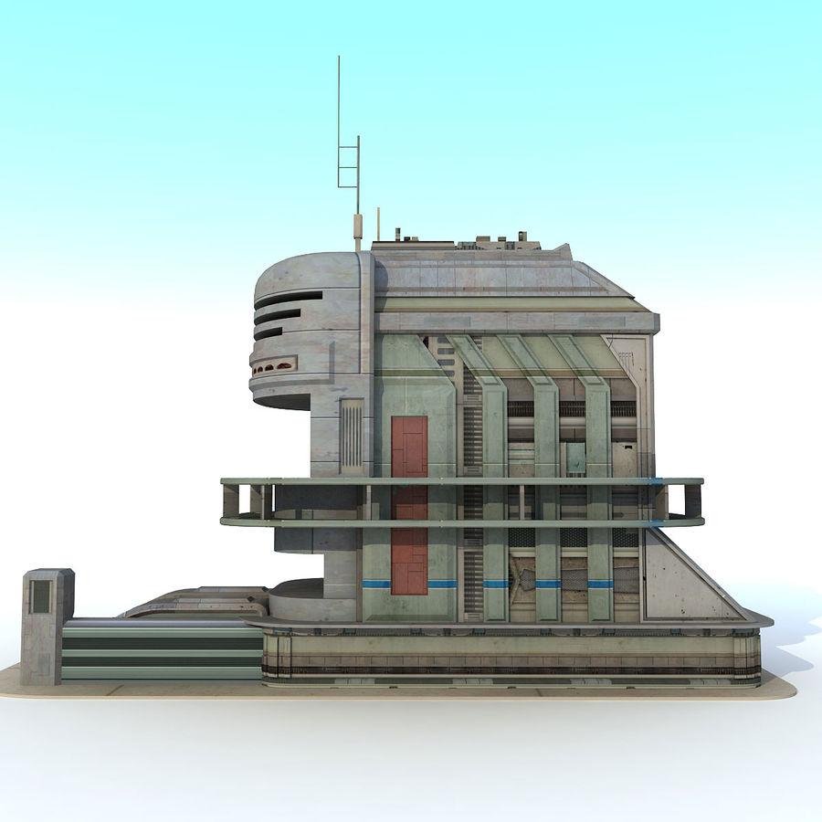 Sci Fi Building B Futuristic royalty-free 3d model - Preview no. 3