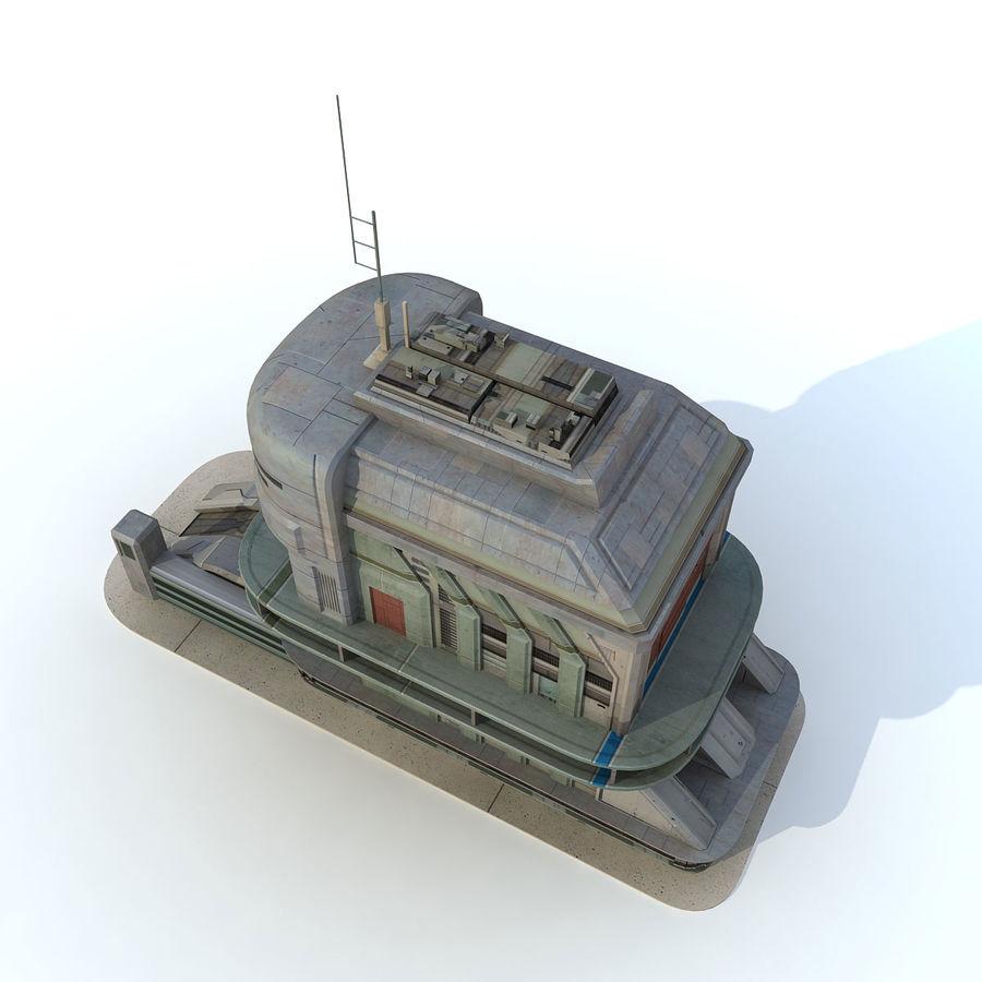 Sci Fi Building B Futuristic royalty-free 3d model - Preview no. 5