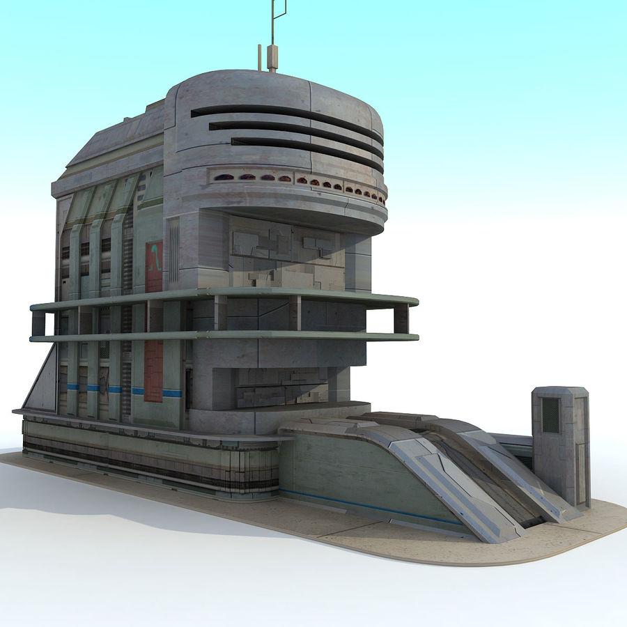 Sci Fi Building B Futuristic royalty-free 3d model - Preview no. 2