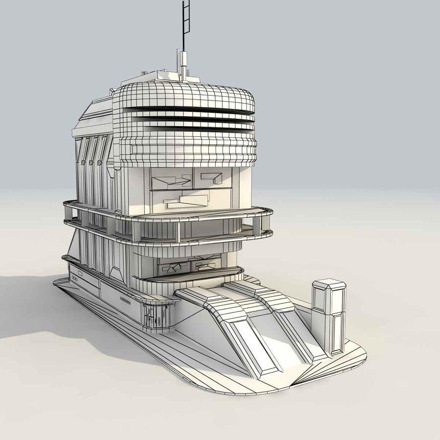 Sci Fi Building B Futuristic royalty-free 3d model - Preview no. 11