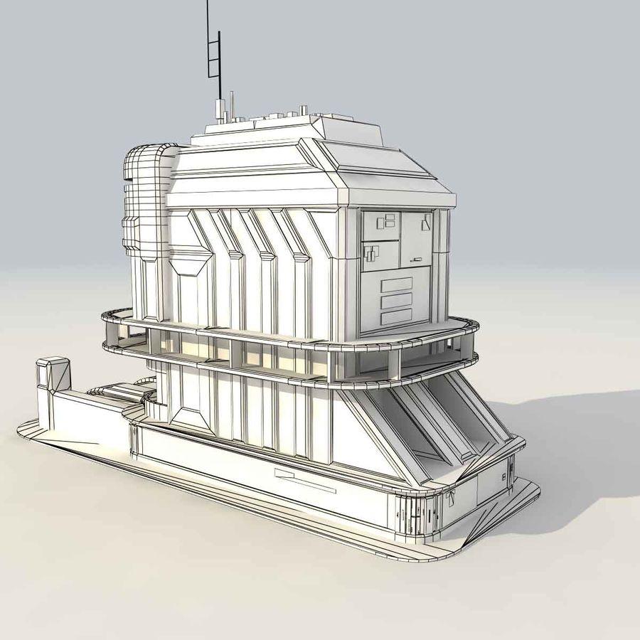 Sci Fi Building B Futuristic royalty-free 3d model - Preview no. 10
