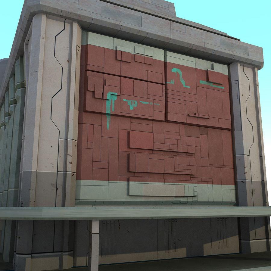Sci Fi Building B Futuristic royalty-free 3d model - Preview no. 7