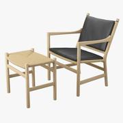 休闲椅和脚凳 3d model