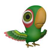 Green Bird 3d model