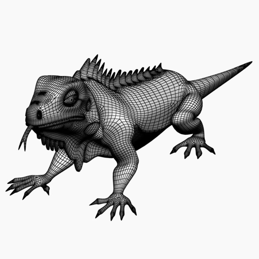 Iguana 2 royalty-free 3d model - Preview no. 7