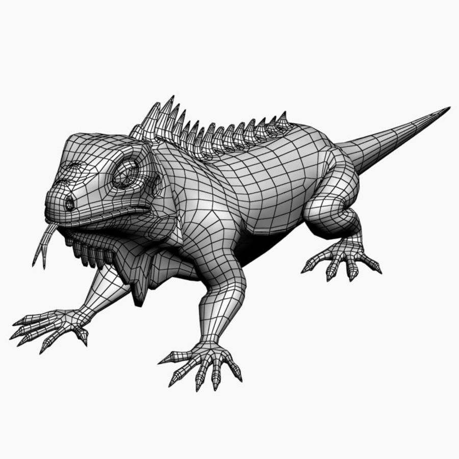 Iguana 2 royalty-free 3d model - Preview no. 6