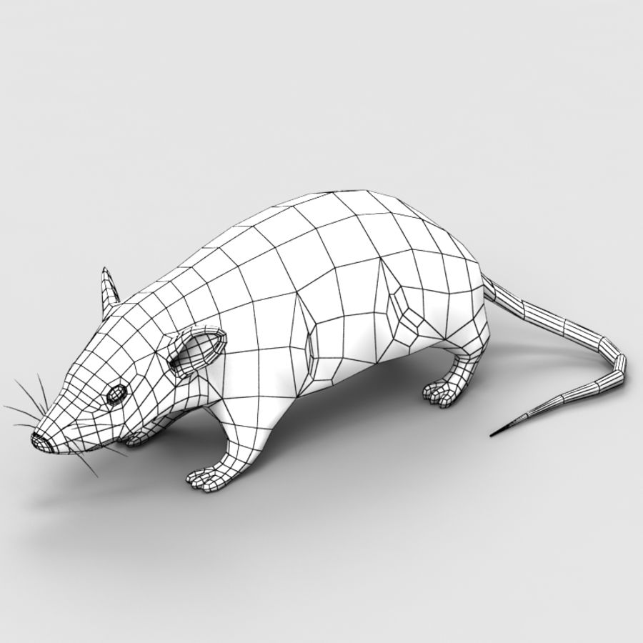Rat Mouse 3 royalty-free 3d model - Preview no. 6
