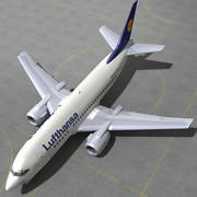 737 - 500 LUFTHANSA 3d model
