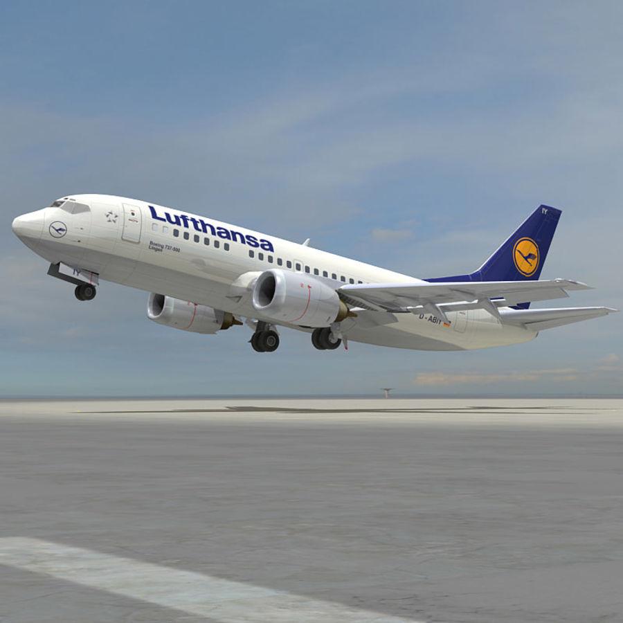 737 500 Lufthansa 3d Model 49 Xsi Obj Max Ma Lwo Fbx C4d 3ds Free3d