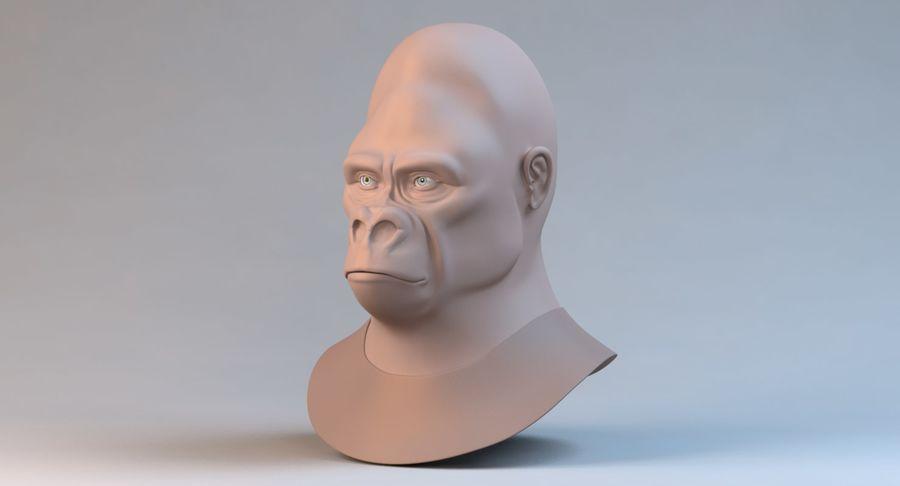 Gorila royalty-free modelo 3d - Preview no. 11