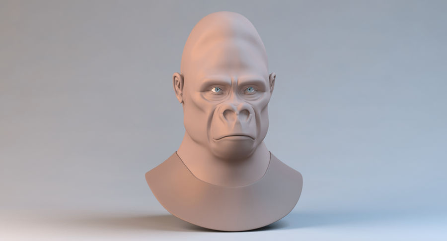 Gorilla royalty-free 3d model - Preview no. 3