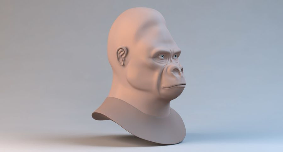 Gorilla royalty-free 3d model - Preview no. 4