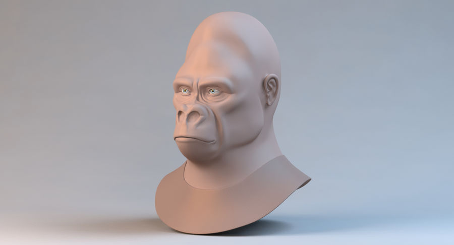 Gorilla royalty-free 3d model - Preview no. 2