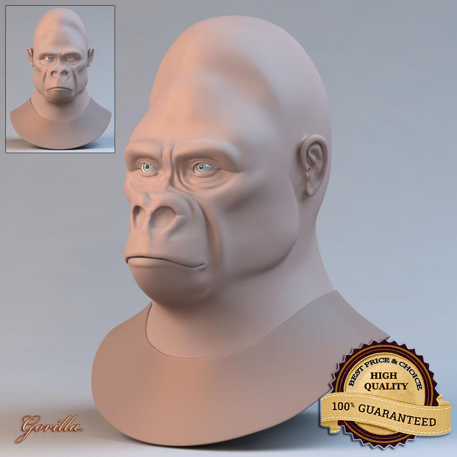 Gorila royalty-free modelo 3d - Preview no. 1