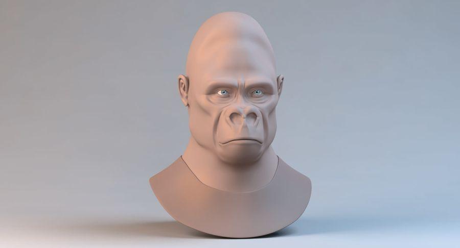 Gorila royalty-free modelo 3d - Preview no. 3