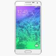 三星Galaxy Alpha炫目白色 3d model