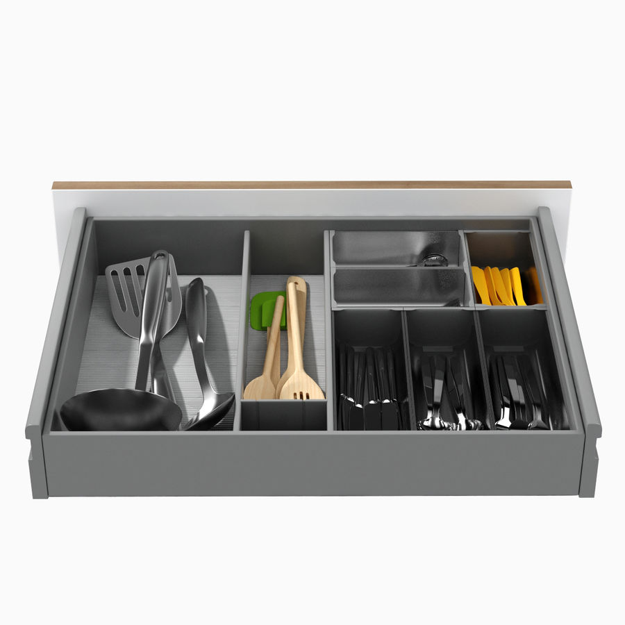 Kitchen Drawer 2 royalty-free 3d model - Preview no. 7