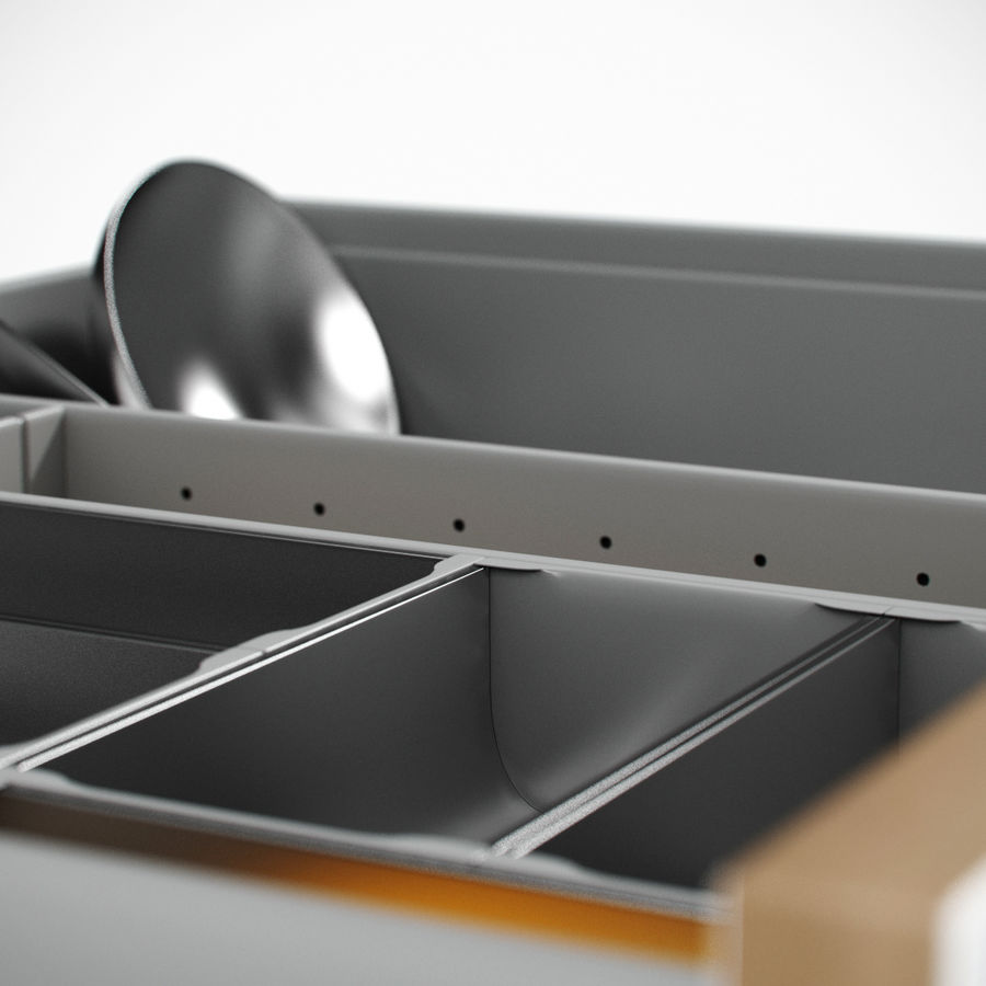 Kitchen Drawer 2 royalty-free 3d model - Preview no. 9